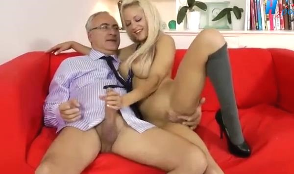 XNXX video of Older Guy Fucks A Blonde Bombshell