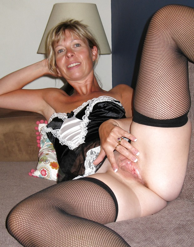 milfs hookup for sex all of the time this amateur milf is wearing a slut maid costume
